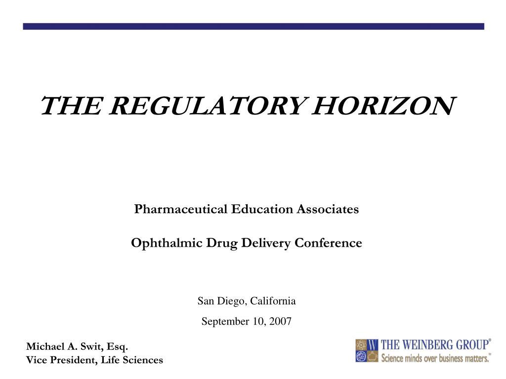 the regulatory horizon l.