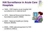 hai surveillance in acute care hospitals