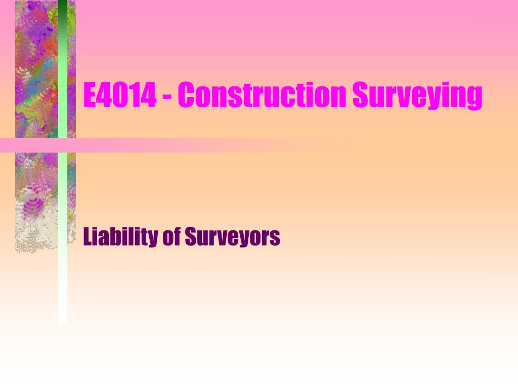 e4014 construction surveying l.