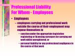 professional liability for whom employees29