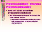 professional liability insurance professional indemnity