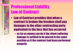 professional liability law of contract