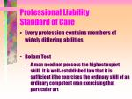 professional liability standard of care