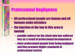 professional negligence