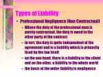 types of liability18
