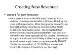 creating new revenues21