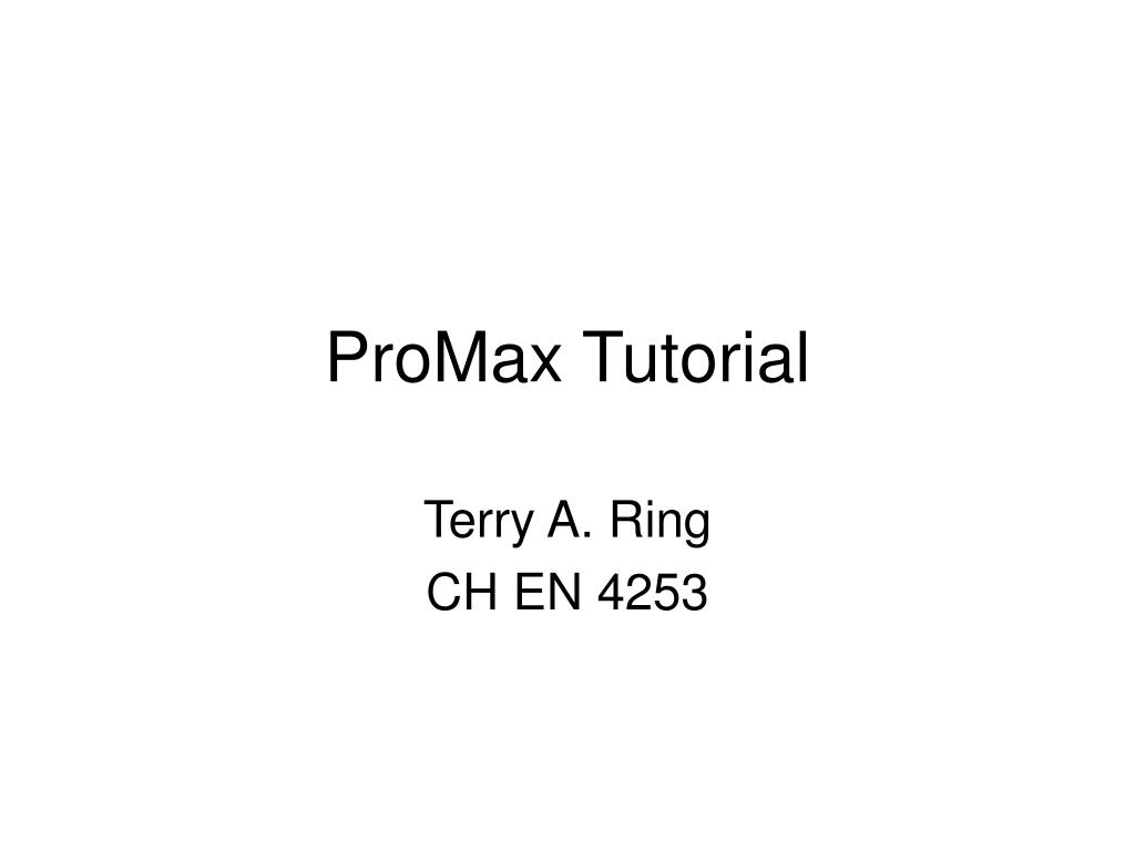 promax tutorial l.