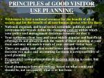 principles of good visitor use planning