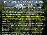 principles of good visitor use planning5