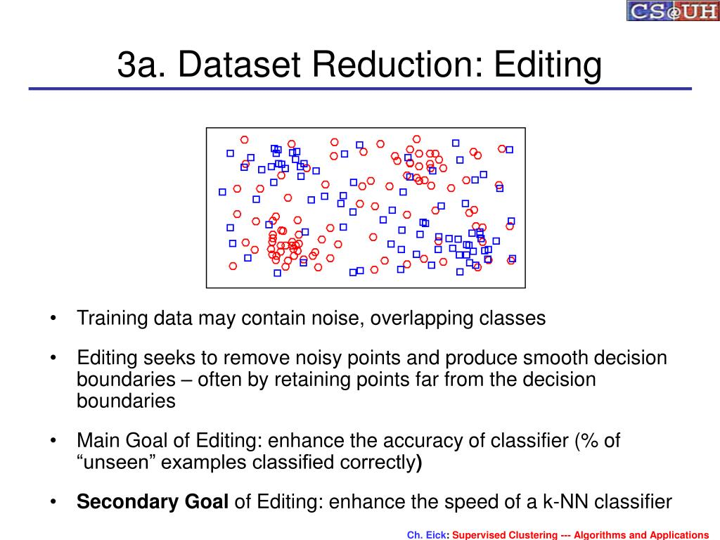3a. Dataset Reduction: Editing