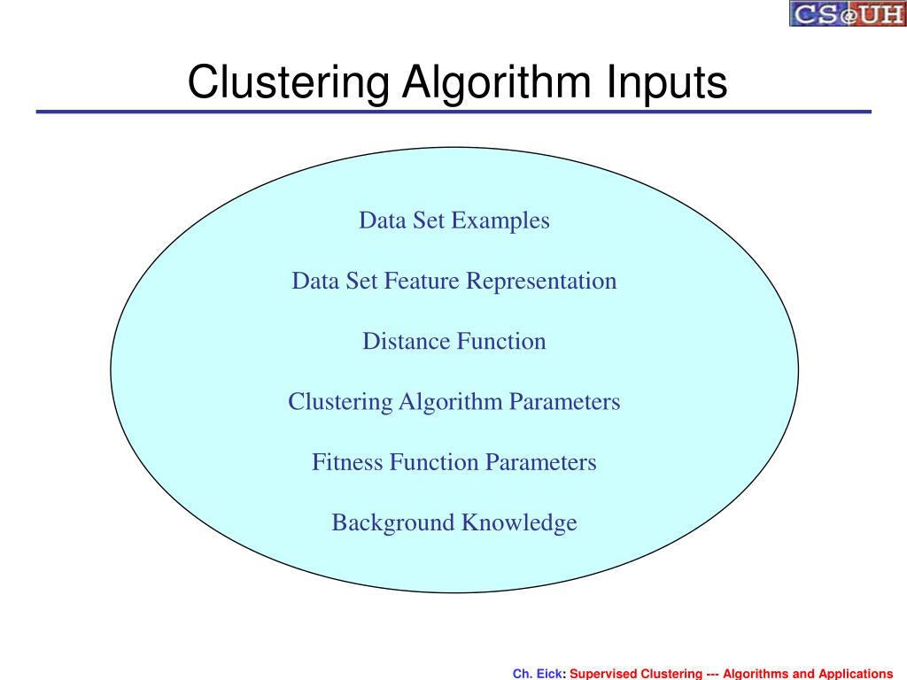 Clustering Algorithm Inputs