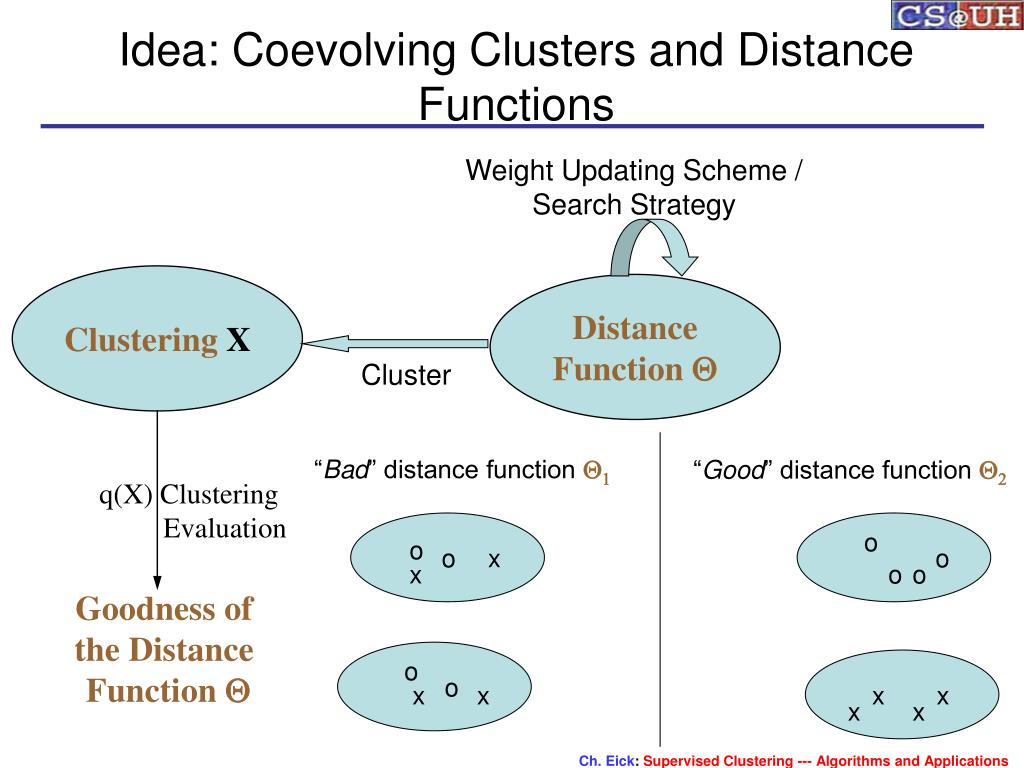 Idea: Coevolving Clusters and Distance Functions