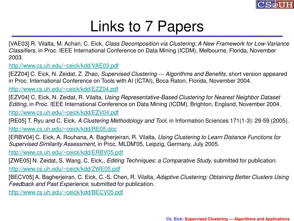 Links to 7 Papers