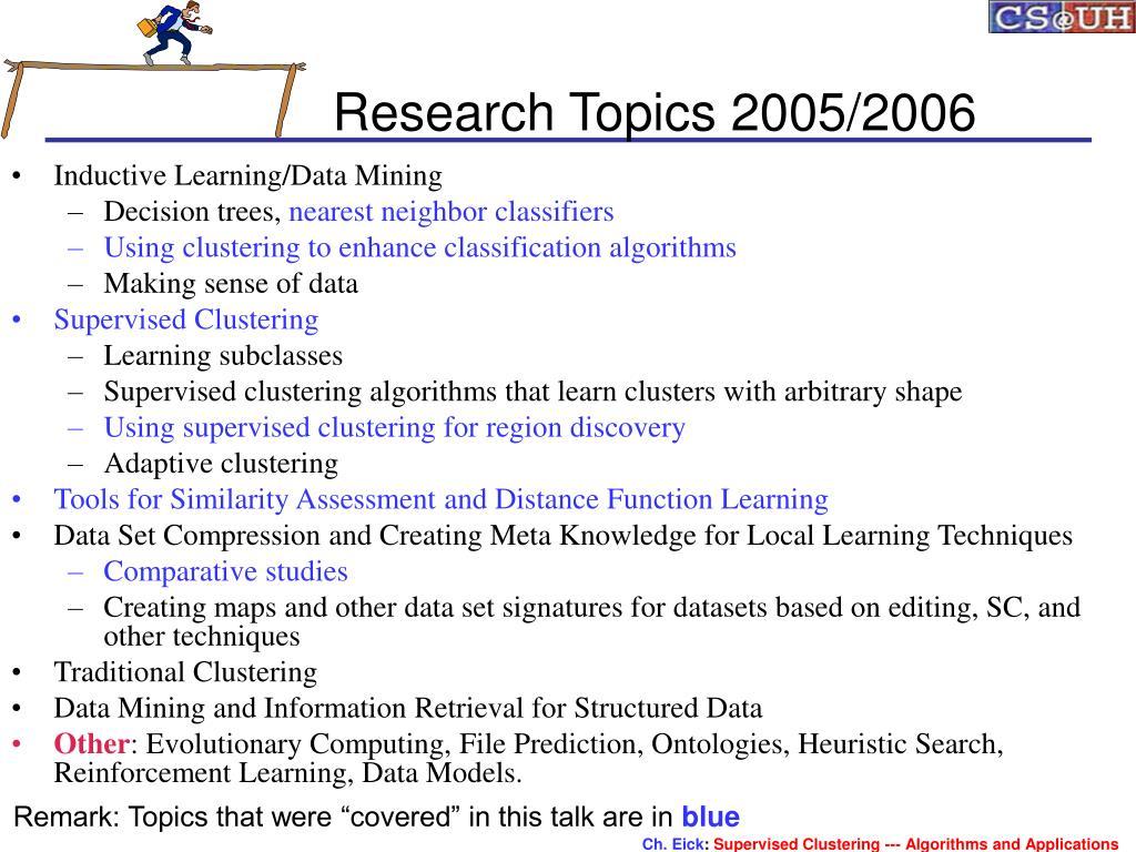 Research Topics 2005/2006