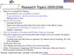 research topics 2005 2006