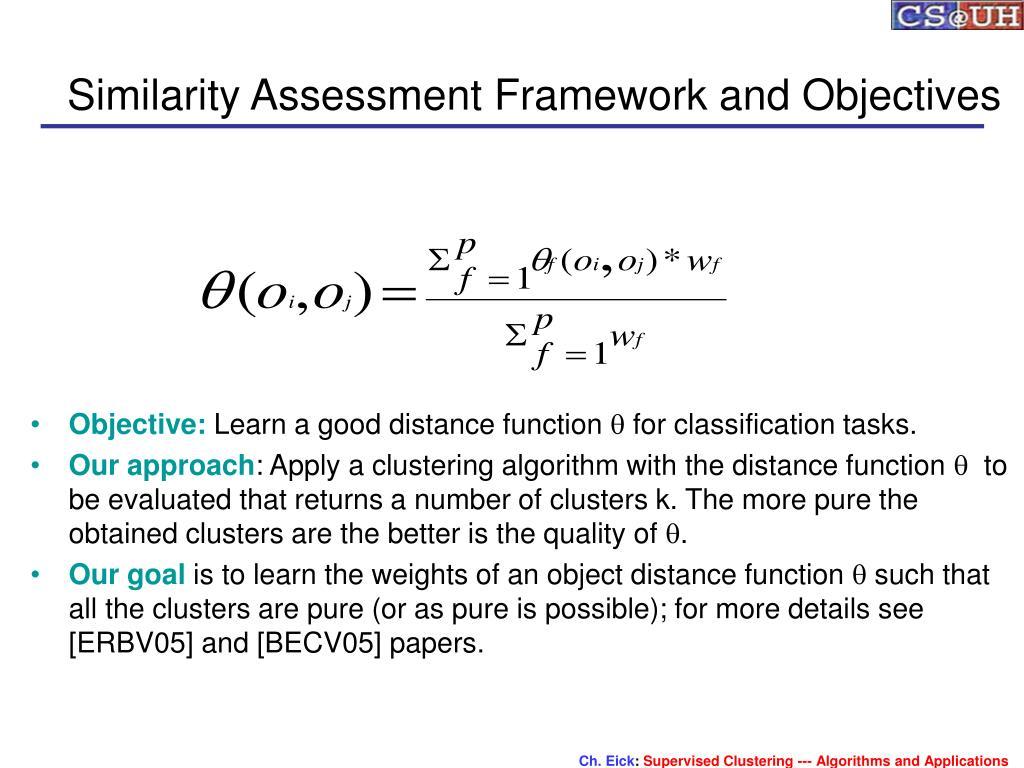 Similarity Assessment Framework and Objectives