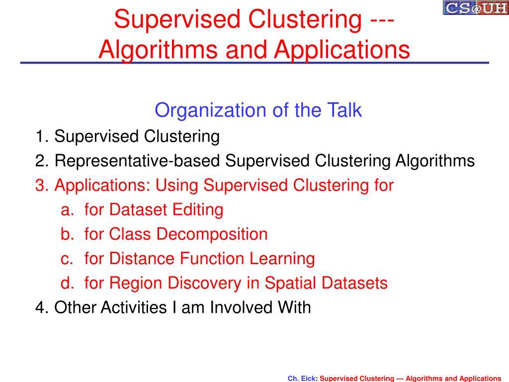 Supervised Clustering ---