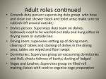 adult roles continued