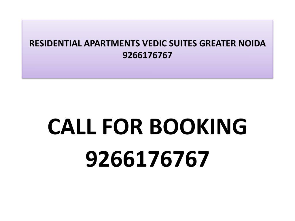 residential apartments vedic suites greater noida 9266176767 l.