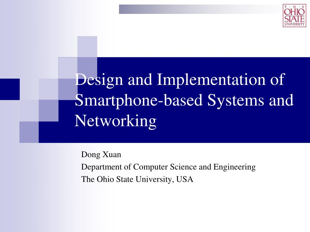 design and implementation of smartphone based systems and networking l.