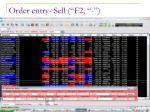 order entry sell f2