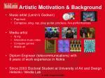artistic motivation background