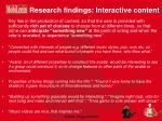 research findings interactive content