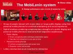 the mobilenin system