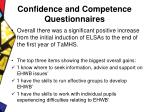 confidence and competence questionnaires13