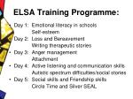 elsa training programme