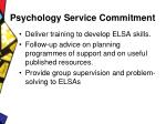psychology service commitment