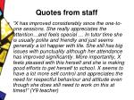 quotes from staff27