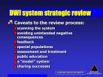 dwi system strategic review47