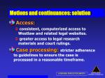 motions and continuances solution