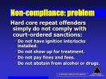 non compliance problem