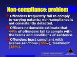 non compliance problem30