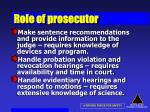 role of prosecutor