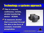 technology a systems approach67