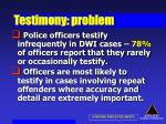 testimony problem