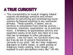 a true curiosity