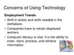 concerns of using technology
