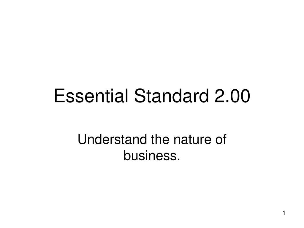 essential standard 2 00 l.