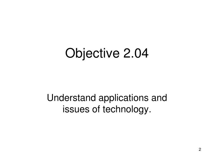 Objective 2 04
