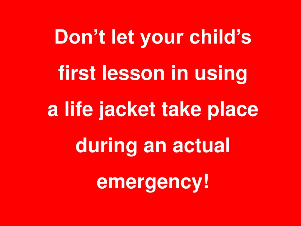 Don't let your child's