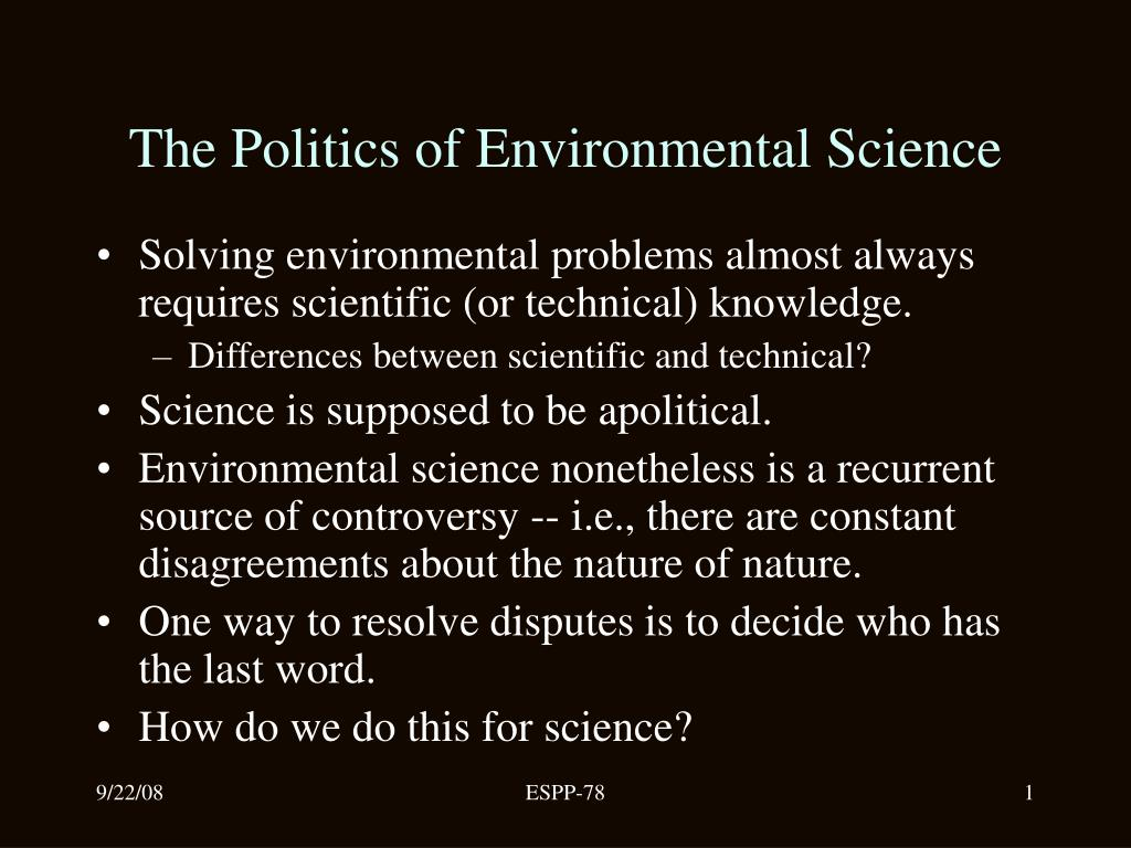 the politics of environmental science l.
