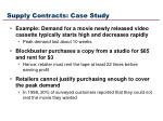 supply contracts case study