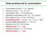 close packing and o 2 consumption