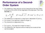 performance of a second order system50