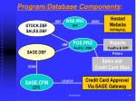 program database components