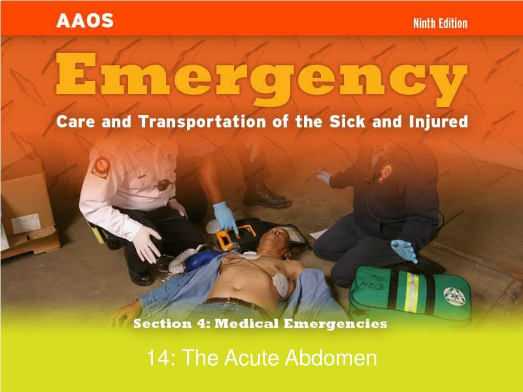 14 the acute abdomen l.